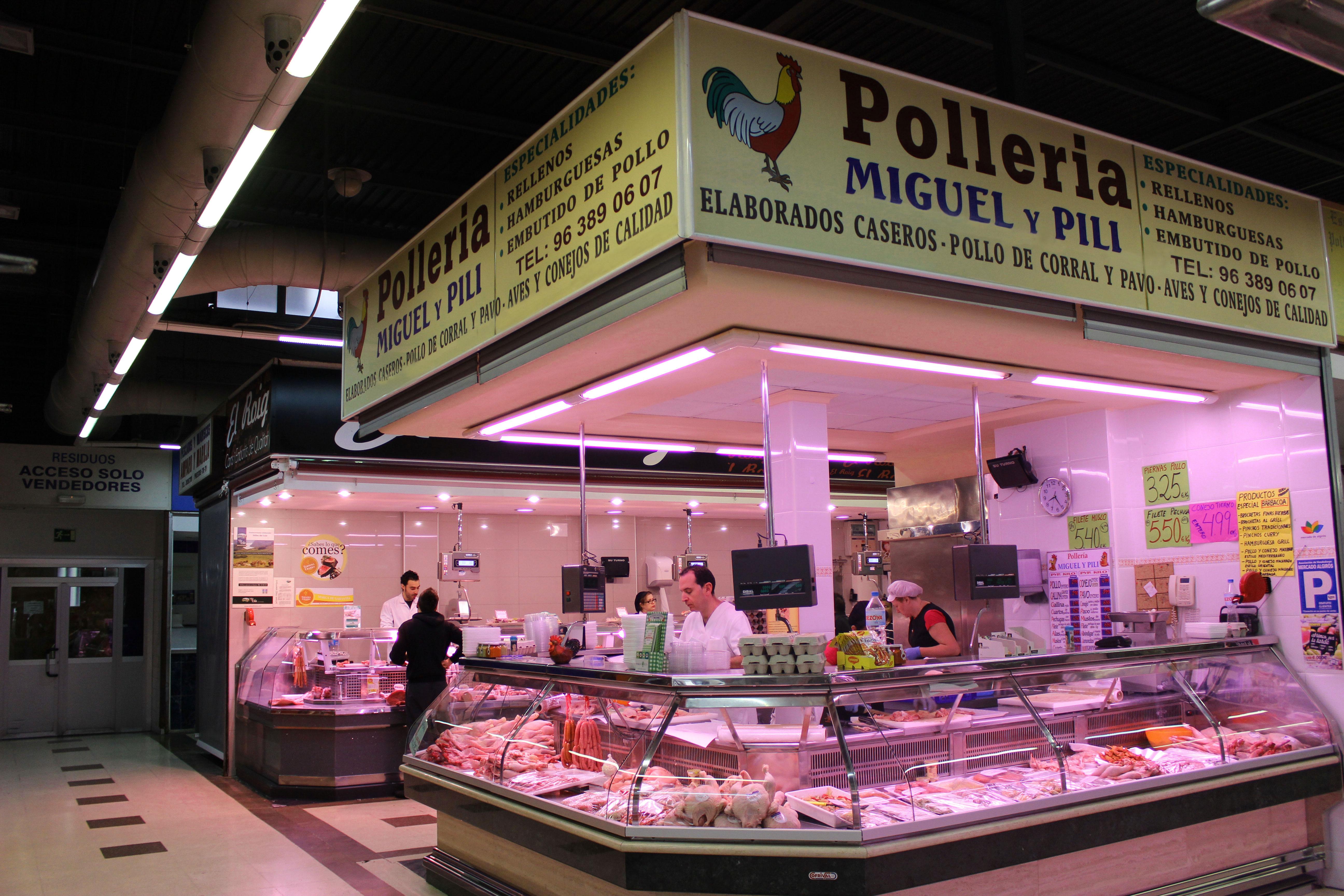 Poller a miguel y pili mercado de algir s - Carniceria en madrid ...